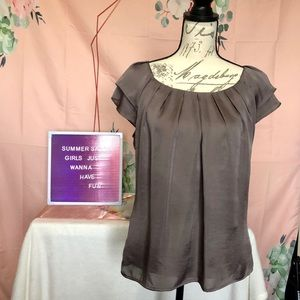 Violet & Claire Blouse with pleated neckline